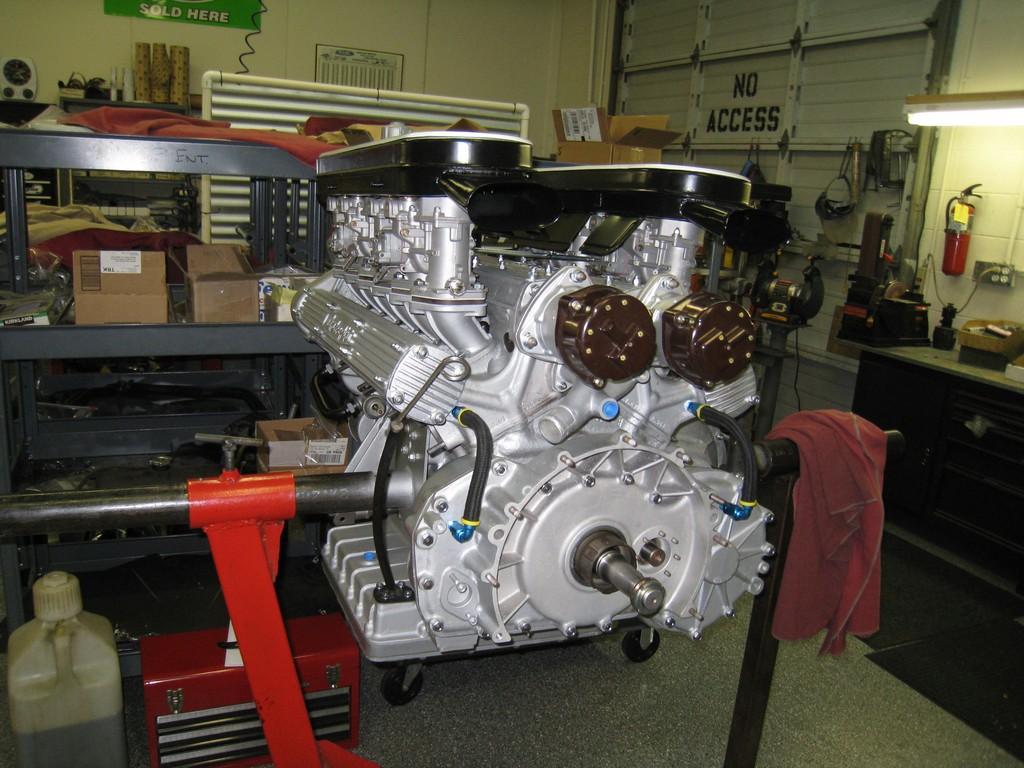 1969 Lamborghini Miura restored engine