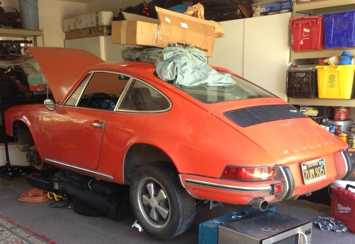1969 Porsche 911T for sale tangerine